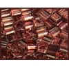 Square Beads 2.6x2.6mm Square Hole Pink Luster